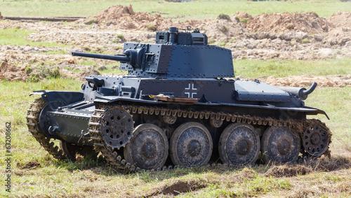 WW2 German Panzer 38 (t) light tank - Buy this stock photo