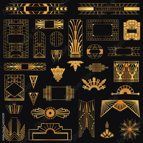 Photo  Art Deco Vintage Frames and Design Elements - in vector