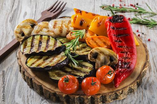 Fototapeta grilled vegetables obraz