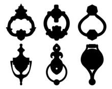 Black Silhouettes Of Door Knoc...