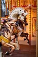 Three Horses Run On French Rou...