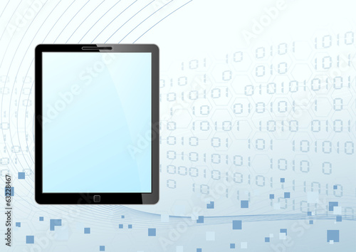 Fotografie, Obraz  Tablet looking device technology background