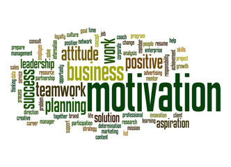 Fototapeta Motywacje Motivation word cloud