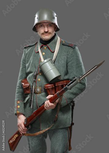 Valokuva  German infantryman during the first world war.