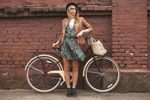 Fashionable Woman With Vintage...