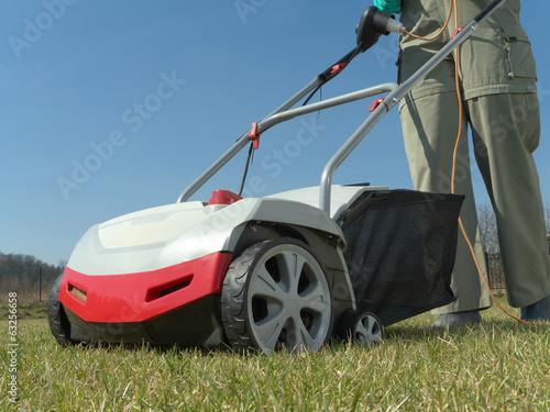 Valokuva  Lawn scarifying