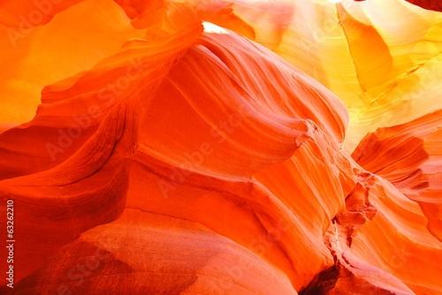 Fotobehang Natuur Park Vibrant orange glow of a canyon in Arizona, USA