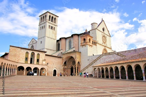 View of the famous Basilica of St Francis, Assisi, Italy Wallpaper Mural