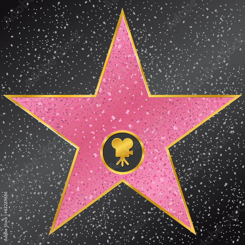 Poster  star. Hollywood Walk of Fame