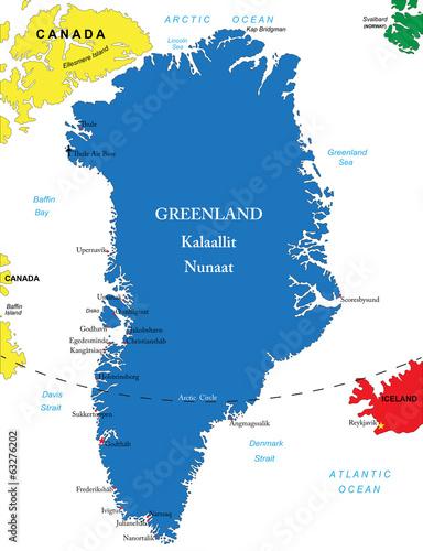 Valokuva  Greenland map