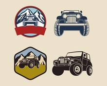 Jeep Emblems With Mountains