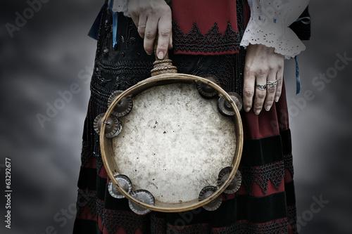 Obraz na plátně Wooden tambourine