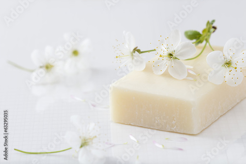 Fotografie, Obraz  Organic Soap and Blossom