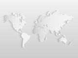 Paper World Map Illustration