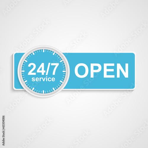 Fotografia  24 hours 7 days customer service icon.