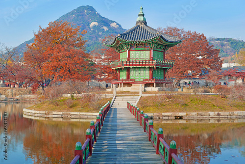 Gyeongbokgung Palace, Seoul, South Korea Wallpaper Mural