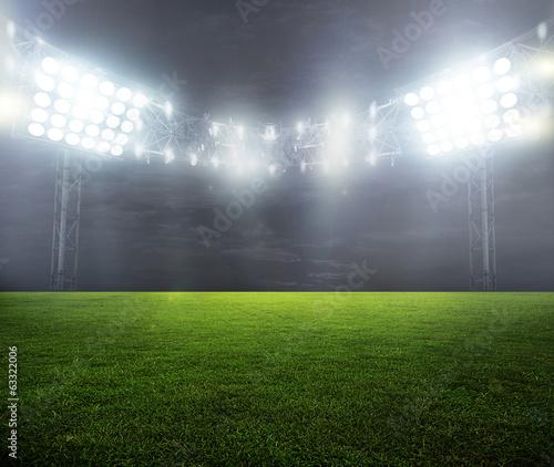 Spoed Foto op Canvas Stadion night-lit stadium