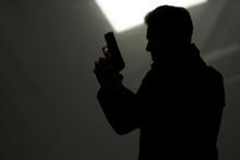 Man Killer Policeman Aiming Gun