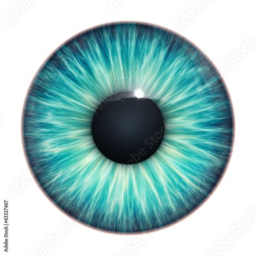 Fototapeta turquoise eye texture