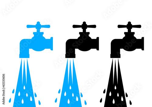 Water tap icons Tapéta, Fotótapéta