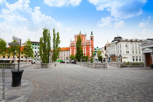 Foto auf Leinwand Osteuropa Square in Ljubljana