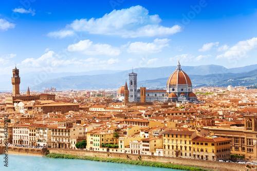 Fototapeta premium Gród we Florencji