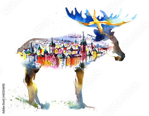 Sweden Wall mural