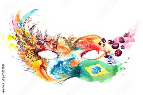 Foto auf Leinwand Gemälde Brazil