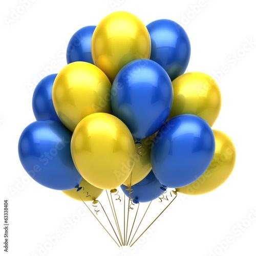 Obraz na plátne  Blue Yellow Balloons