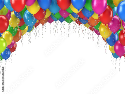 Happy Birthday Balloons Poster