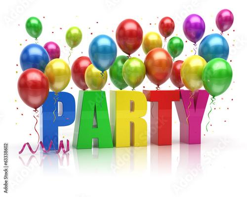 Fotografia, Obraz  Party Balloons 3d