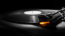 Old Style Turntable With Needl...