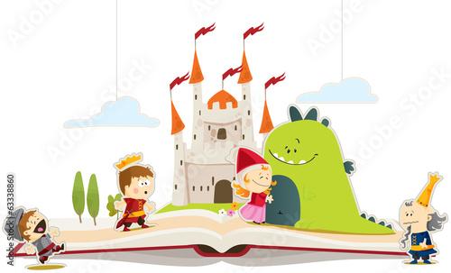 Plakat Książka o smokach i księżniczkach