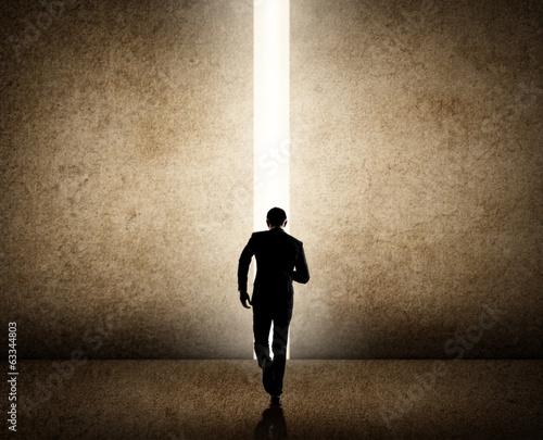 Fotografie, Obraz  Businessman running to the future