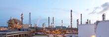 The Panoramic View Of The Propane Plant In The Morning