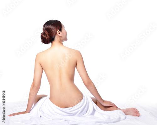 Obraz woman back view - fototapety do salonu
