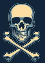 Classic Skull With Crossed Bones