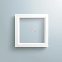 White Frame Silver Background