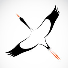 Vector Image Of An Stork