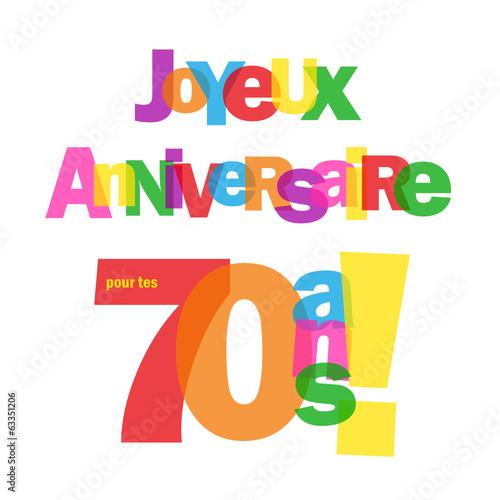 Carte Joyeux Anniversaire Pour Tes 70 Ans Fete Felicitations Buy This Stock Vector And Explore Similar Vectors At Adobe Stock Adobe Stock
