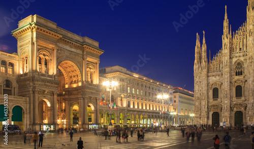 obraz lub plakat Piazza Duomo, Mediolan