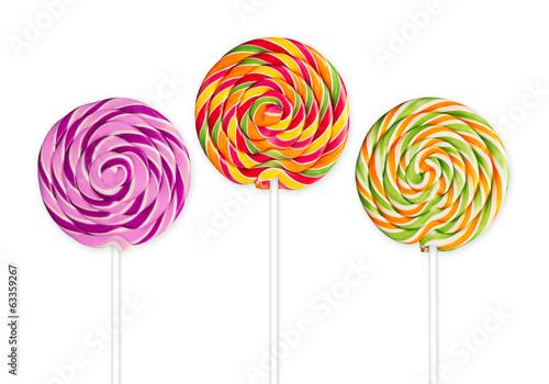 colorful lollipops Poster