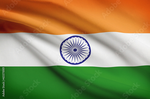 Wallpaper Mural Series of flags. Federal Parliamentary Republic of India.