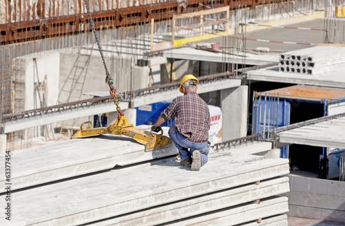 Fotografie, Obraz  worker safety in construction