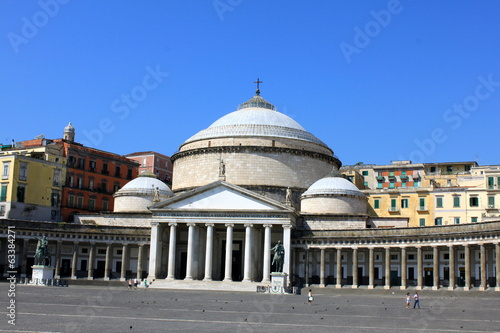 Garden Poster Napels Piazza del Plebiscito à Naples - Italie