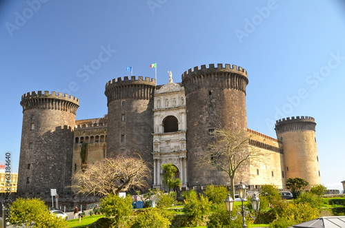 Spoed Foto op Canvas Napels The medieval castle of Maschio Angioino, Naples, Italy