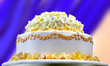 canvas print picture - Wedding cake with yellow flowers