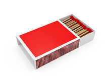 Red Matchbox Isolated On White Background
