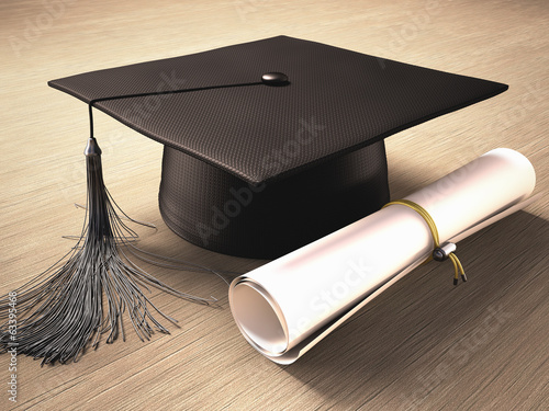 Photo Graduation Day. Clipping path included.