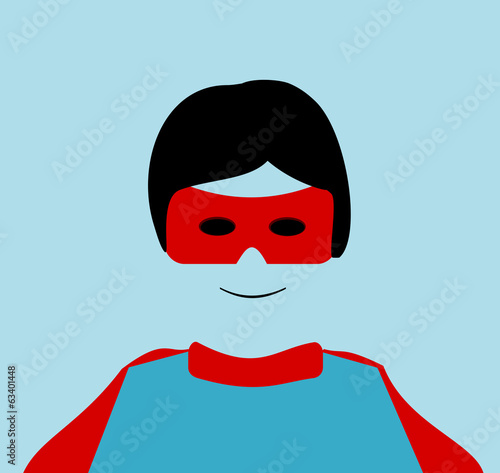 Photo  child wearing superhero costume